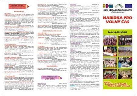 Nabídka kroužků pro školní rok 2013/2014