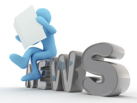 man reads news in newspaper